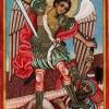 """Икона """"Свети Архангел Михаил"""", насликана во 1833 г."""