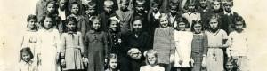 """1946/47: Ученици од III-a од ОУ """"Кочо Рацин""""."""