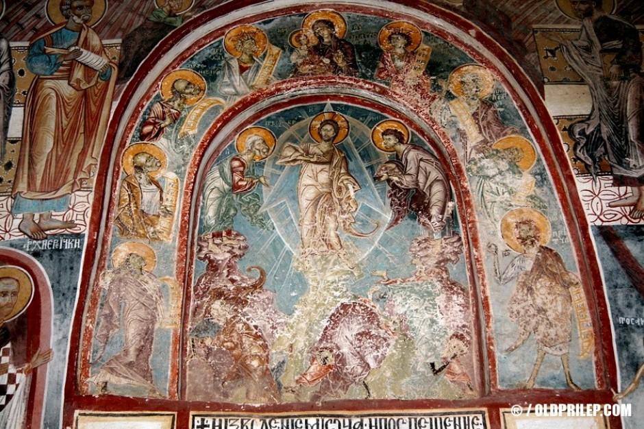 Западната фасада (1368-1369 г.)... Фреска: Преображение Христово