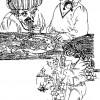 """Илустрација од книгата """"Итар Пејо"""" од Стале Попов"""