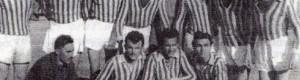 """ФК """"Ударник"""" пред натпреварот со ФК """"Питу Гули"""" (5:1), одигран на 9 март 1952..."""