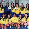 """Ракометната екипа на гимназијата """"Мирче Ацев"""", државен првак на Малите олимписки игри за средношколска младина, 1997..."""