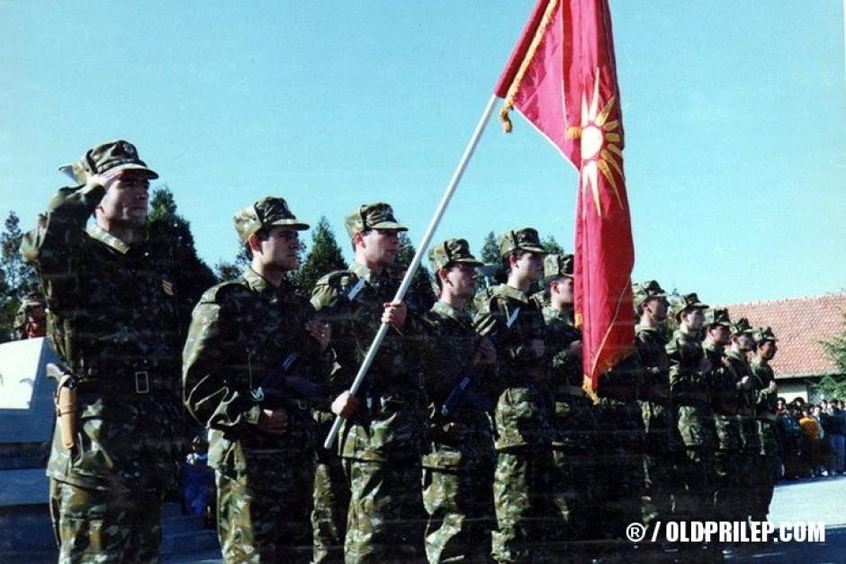 8 ноември 1992 година... Полагање свечена обврска на војниците од прилепскиот гарнизон на АРМ