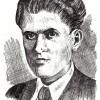 Борка Јован Велески (Левата, Горанов), (1912-1942); илустрирал: академски сликар Иван Велков, 1972/73.