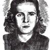 """Иван Велков: """"Вера Доне Ацева (Доста), портрет"""", 1972/73"""