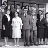 """1959/60: Наставничкиот колегиум при ОУ """"Кире Гаврилоски - Јане""""."""