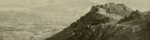Гранитен масив во близина на Прилеп... Фотографија направена од експедицијата на германскиот зоолог Franz Doflein