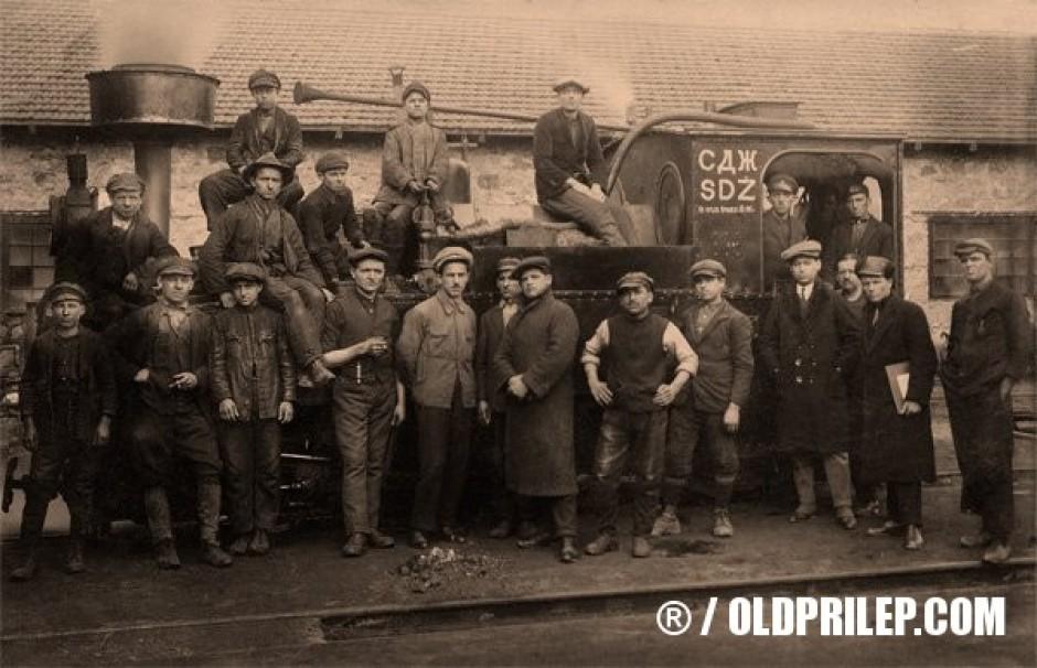 1923: Железничка станица Прилеп. Парна локомотива серија 99.4.