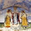 Фреска над манастирските порти... Андроник II, Богородица и Михаило IX... XIX век...