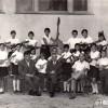 """1967: Тамбурашкиот оркестар при ОУ """"Кире Гаврилоски - Јане"""" под диригентство на Благоја Стојкоски - Капелникот."""