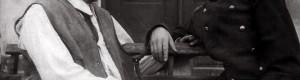 """Сезона 1952/53 година... Од претставата """"Сомнително лице""""... Рампо Конески и Кирил Жежоски... Спомен од колегите на 1 мај 1956 година - Кирил Жежоски"""