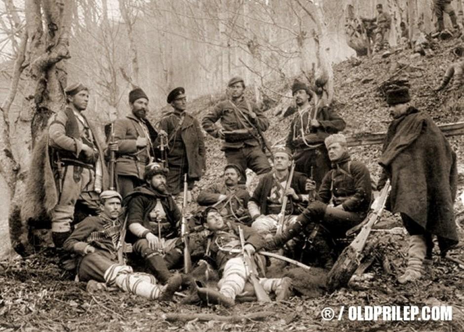 1903 година... Константин Кондов на советување со други војводи во Осоговските планини...