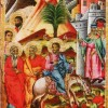 """Адамче Јанев: """"Цветници"""", гипсен грунд врз штица."""