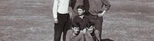 24.02.1966: Маалски фудбалери: Стојат: Борче Муса, Методија Дисо и Славчо Чаицо; Долу: Кире Корејчето, Мендо Димза и Ило Нуро.
