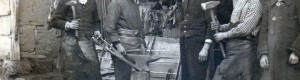 1925: Прилепските ковачи Милан, Петре, Борка Лилјакот, Миро и Јован...
