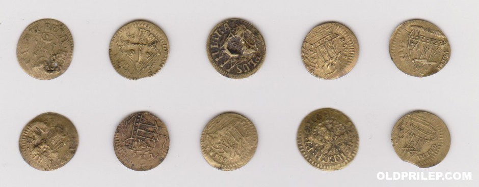 Дел од колекцијата на жетони.