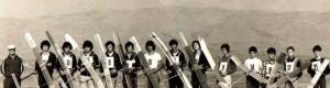 """1977: Членовите на моделарската секција при Аеро клуб """"Прилеп"""""""