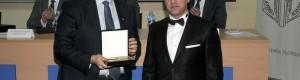 Постхумно доделување на признание за Александар Лепавцов. Признанието го прима неговиот син Андреј Лепавцов, амбасадор во мисијата на ЕУ.