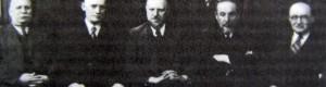 Настоjaтелитe на Бугарската економска заедница. Јанчулев е трет во третиот ред.