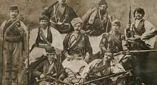 Мирче Ацев (средина) во четата на прилепскиот војвода Коне Павле