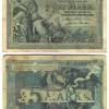 """31 октомври 1904: 5 германски марки, Берлин, серија """"F"""", сериски број со 6 цифри"""