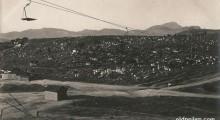 1917: Жичарницата кај градските гробишта...