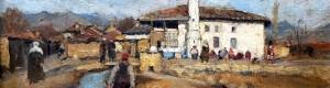 "1 јануари 1918:  Арно Хааг: ""Поглед од Прилеп, Македонија"""
