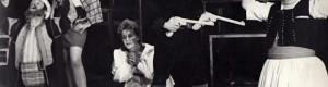 """1970/71: Сцена од претставата """"Итроман Пејо"""" на НТ """"Војдан Чернодрински""""."""