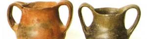 Керамички садови од локалитетот Бакарно Гумно кај селото Чепигово, рана бронза.