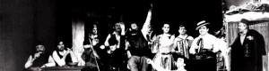 """1990/91: Сцена од претставата """"Бегалка""""."""