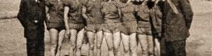 1953: Женската ракометна екипа од Економското училиште.