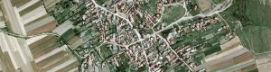 Сателитска снимка од село Крушеани