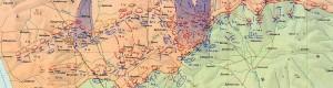 Бугарска карта со приказ на битката кај Добро Поле...