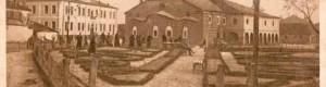 """Црковно-училишната општина во дворот на црквата """"Свето Благовештение"""", каде што била сместена и Прилепската духовна семинарија."""