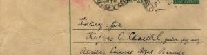 Дописна картичка, 31 јануари 1940 година (Предна)