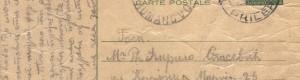 Дописна картичка, 9 август 1938 година (предна страна)