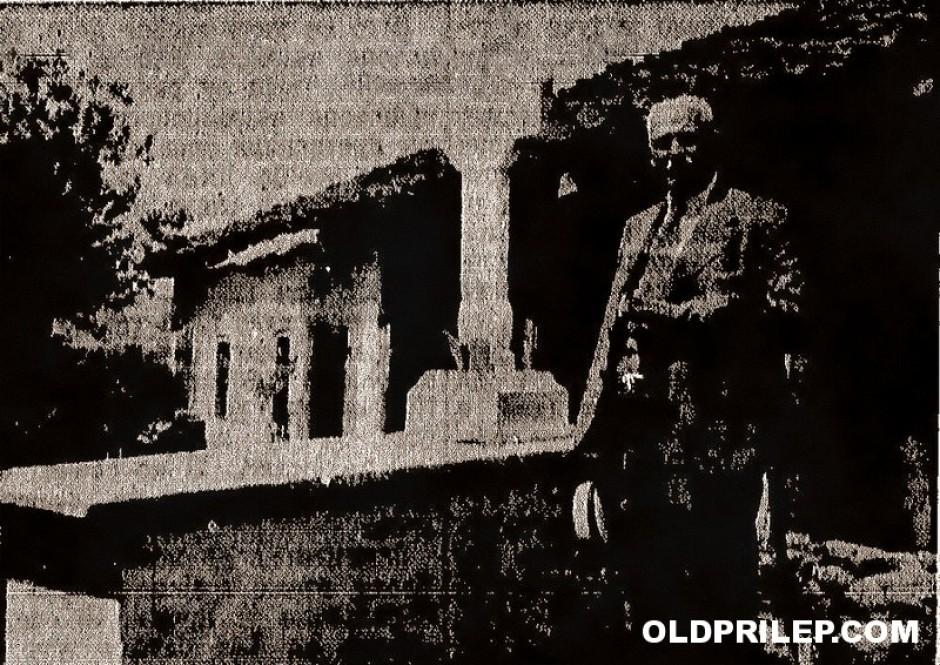 Јули 1934: Василије Трбиќ на гробот од Глигор Соколовиќ