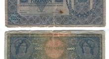 2 јануари 1902: 1000 Австро-Унгарски круни, Виена, печат Deutschösterreich