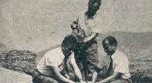 1971: Наставниците Здравко Богатинов, Милчо Апагиев и Благој Тасев вршат подготовки на експлозивот