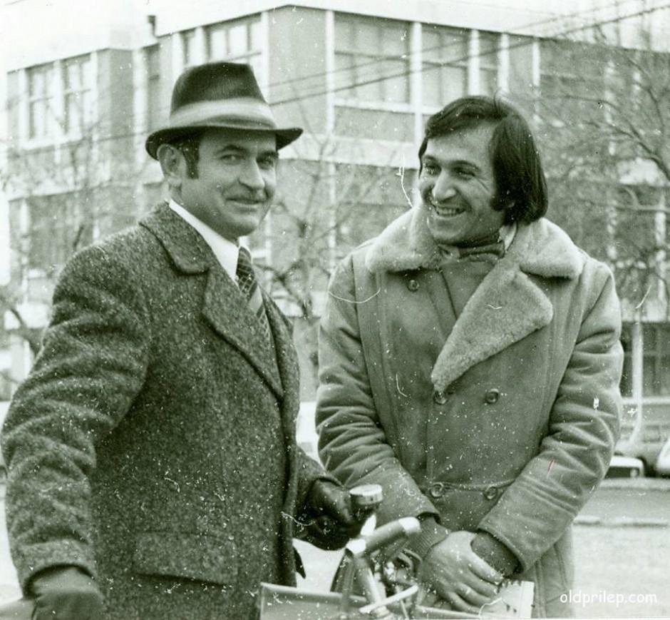 70те години од минатиот век: Александар Ивановски Глоговичанец (лево)